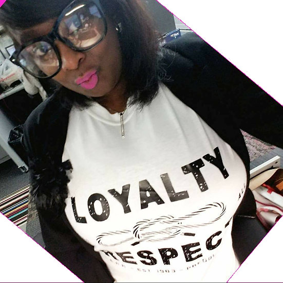 """Loyalty/Respect"" Narcos Ladies T-Shirt"