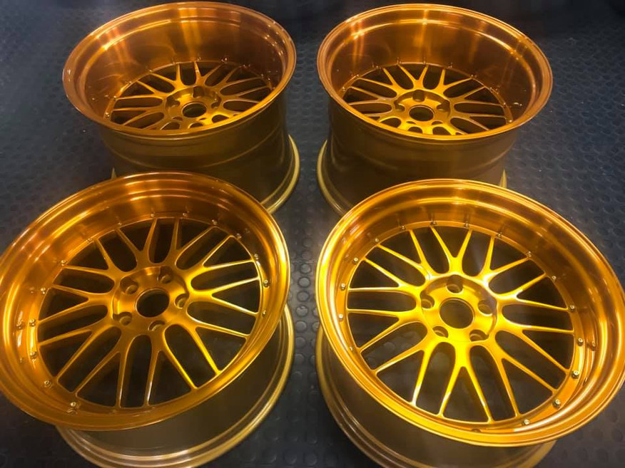 """20""""BBS wheels woth candy gold tint and clear coat over diamond-cut"""