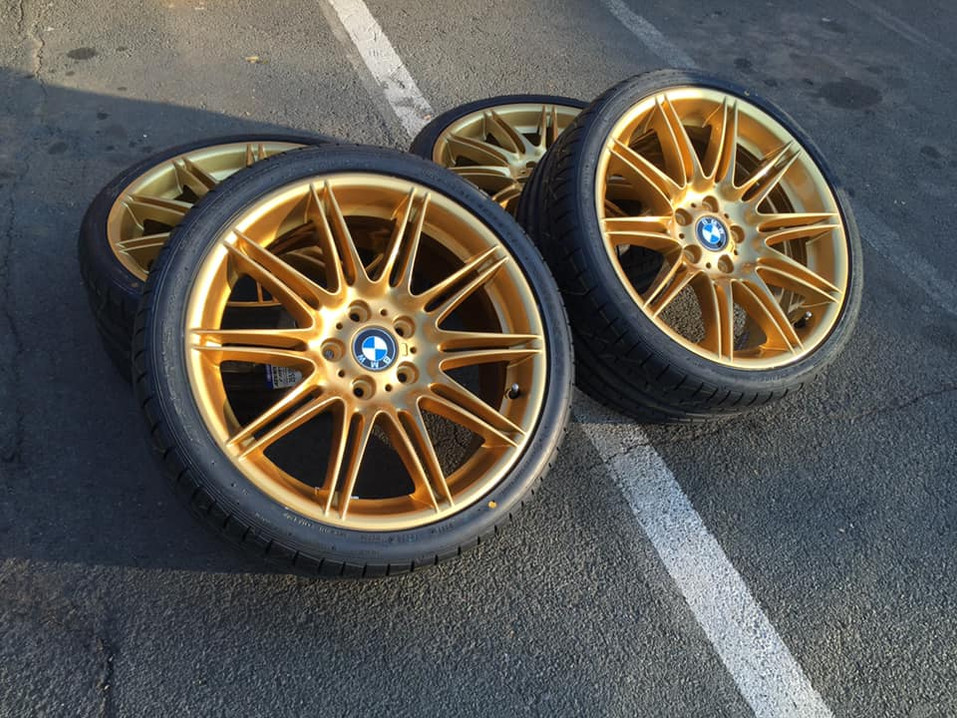 """19"""" bmw 335 wheels repaired and refurbished"""