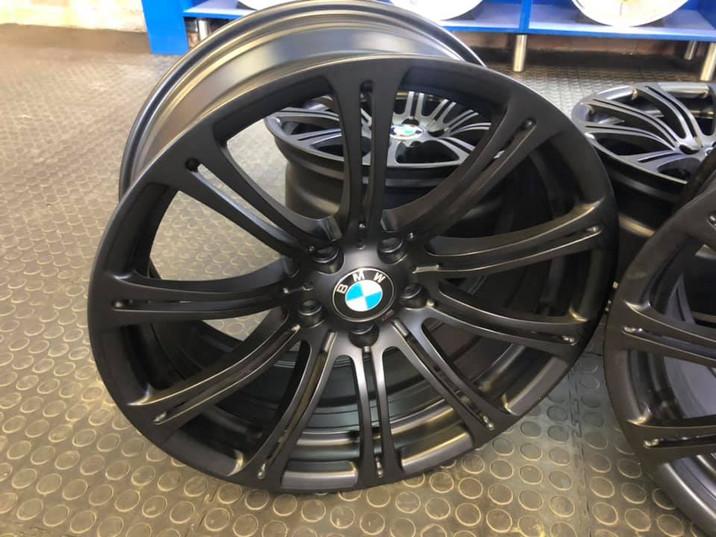 "19"" Bmw M3 wheels refurbished in satin black"