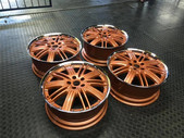"""9""""Works Verenza wheels with polished dish"""