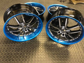 """8""""R1 wheels tinted in candy blue"""