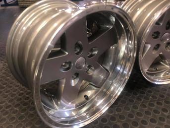 "17"" Jeep Wrangler wheels with dish polished"