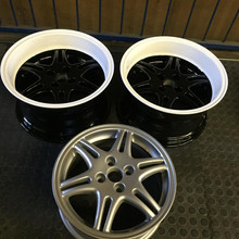 """15"""" Toyota RSI tinted white dish and gloss black centre"""