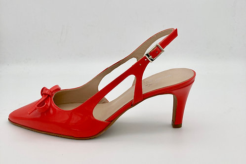 Brenda Zaro Orange Patent Sling Backs. BZ005