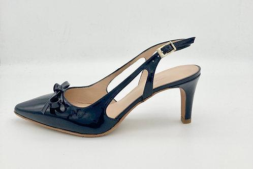 Brenda Zaro Navy Patent sling back. BZ004