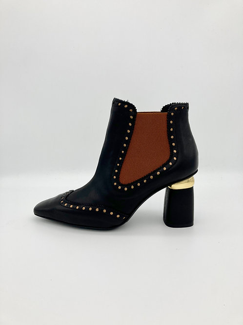 Marian Black and Tan Boot. M011