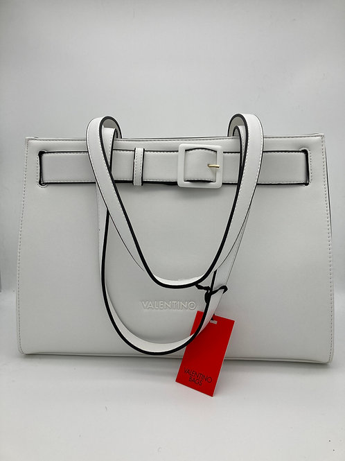 Valentino White Bag with Black Trim