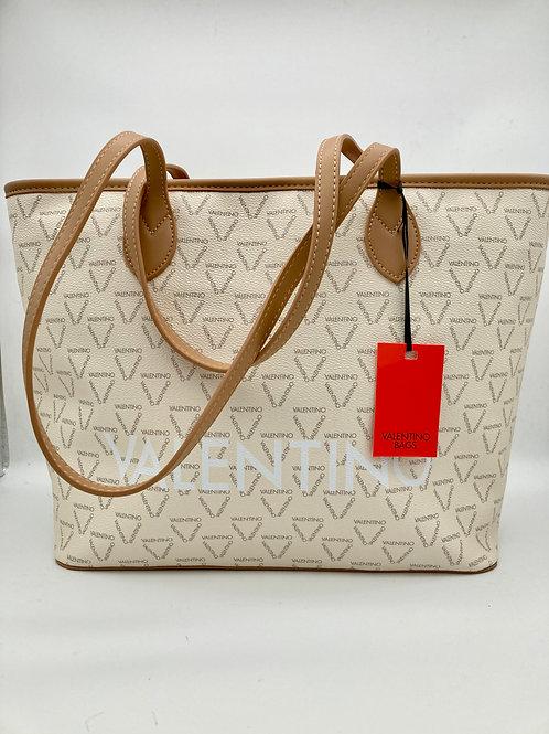 Valentino Cream & Tan Shopper.
