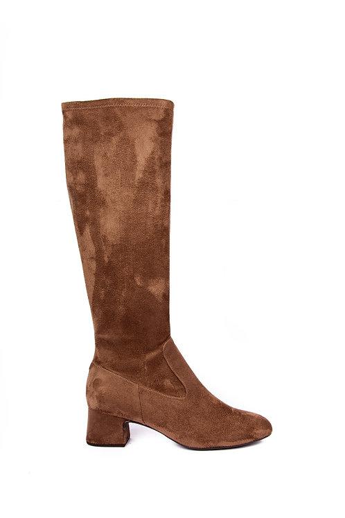 Unisa Taupe Suedette Pull on Boot