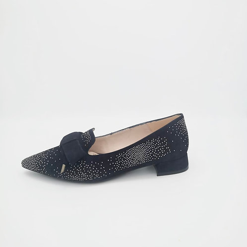 Marian Navy Suede Loafers. M005