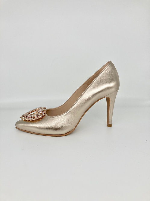 Brenda Zaro Gold Embellished Court. BZ003