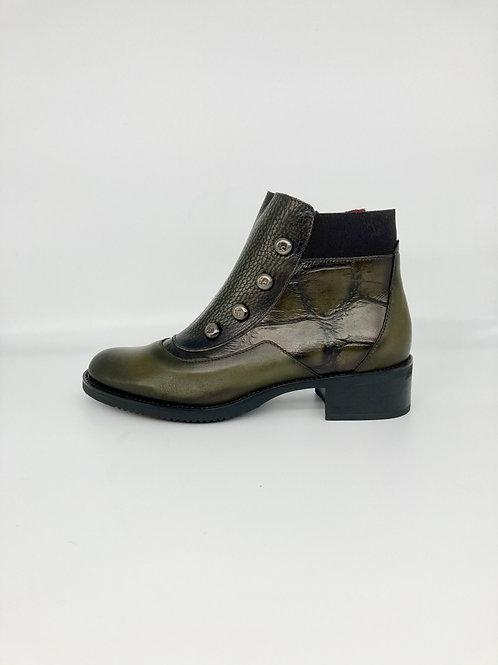 Jose Saenz Kaki Green Ankle Boot. JS002