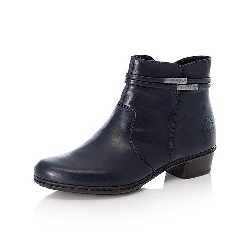Reiker Navy Low Heel Boot. R002