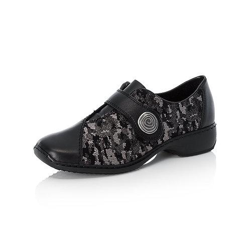 Rieker Black Shoes. R009