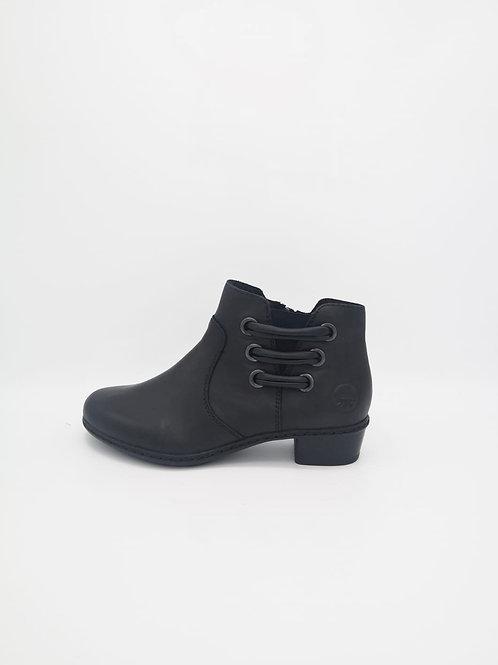 Rieker Black low heel Boot. R40