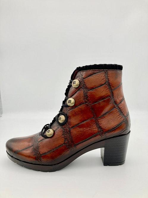 Jose Saenz Tan Croc Boot. JS026