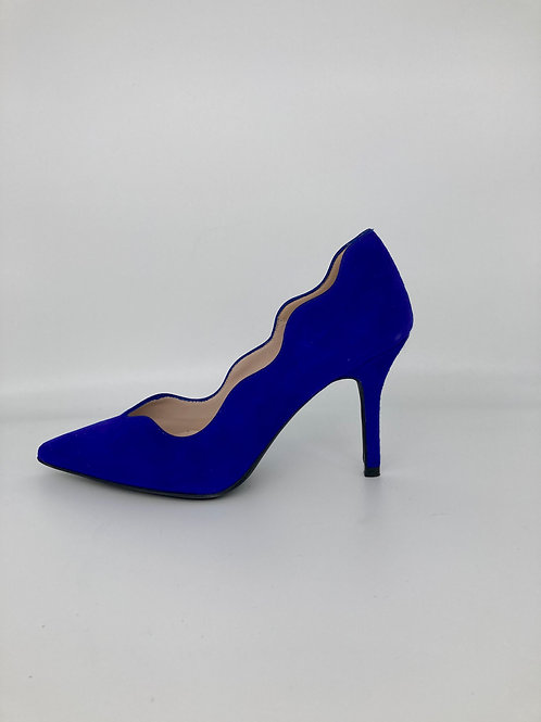 Marian Electric Blue Court Shoe. M002