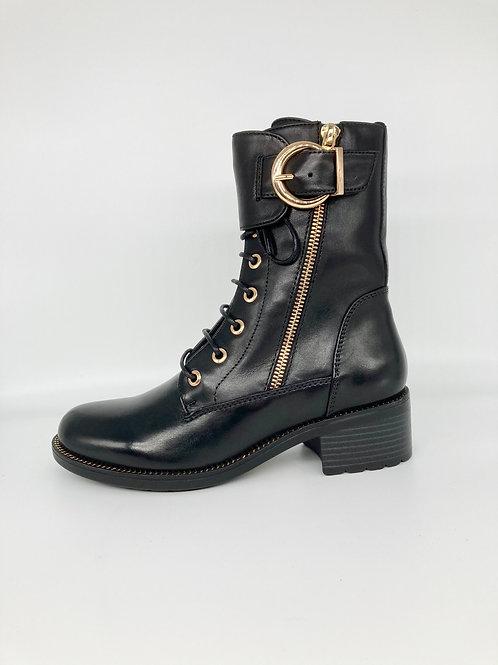 Regarde le Ciel Black Moto Boot. R009