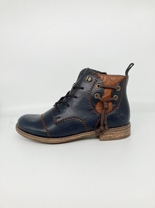 Rieker Navy & Tan Boot. R014