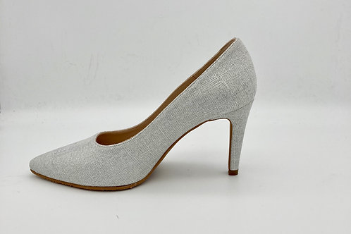 Brenda Zaro Silver Sparke Court Shoe. BZ006