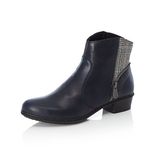 Rieker Navy low heel boot. R030