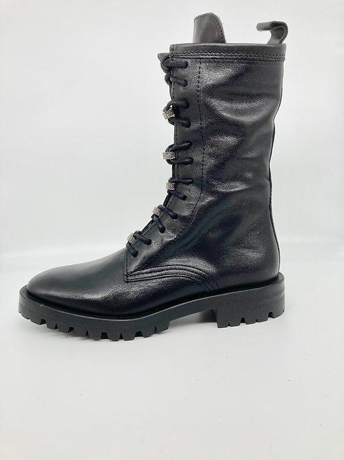 Alpe Black mid leg boot. AL001