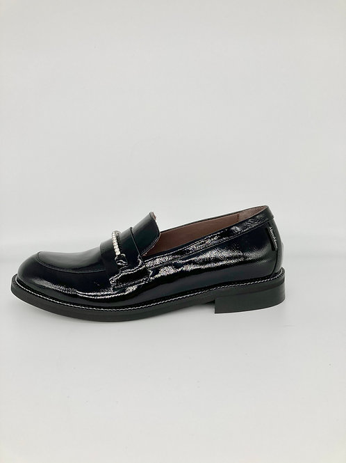 Marco Moreo Black Patent Loafer. M008