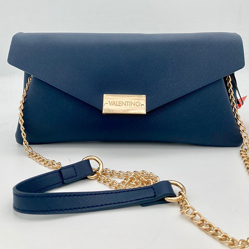 Valentino Navy Clutch/Cross Body Bag.