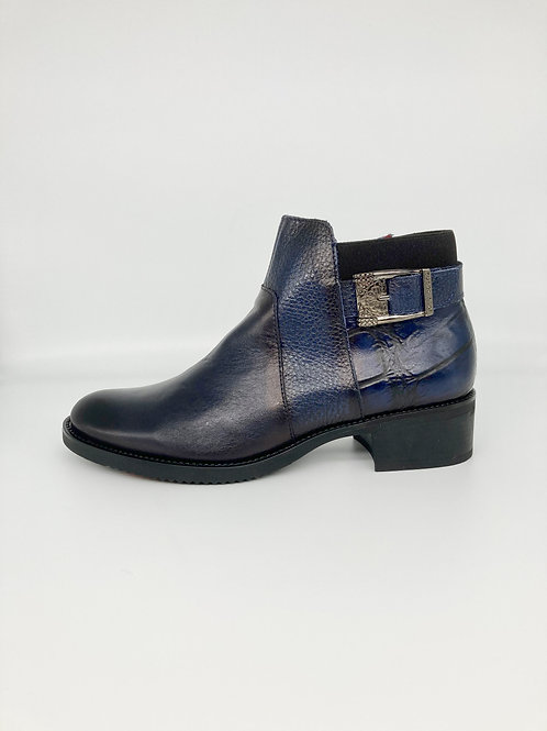Jose Saenz Navy Classic Ankle Boot. JS001