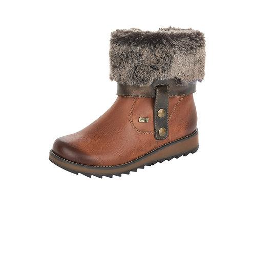 Remonte Tan Fur Boot. R006