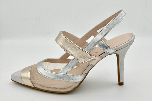 Marian Metallic Sling Back. M018S