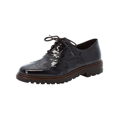 Rieker Navy Patent Brogue. R011