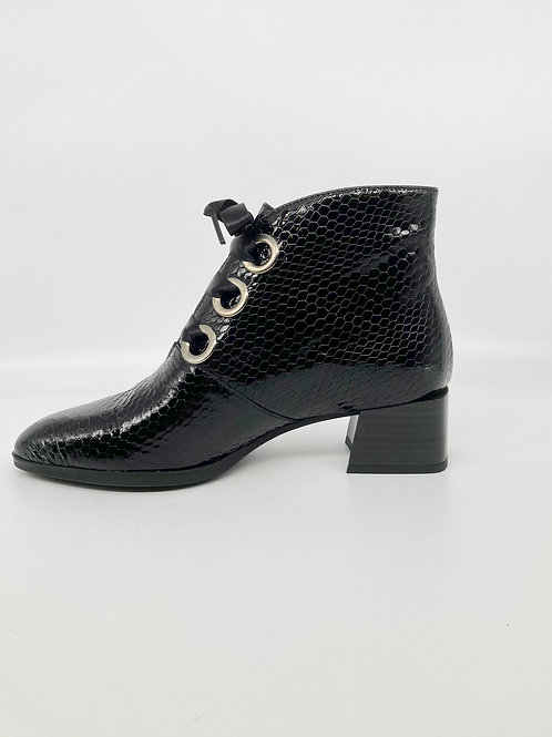 Hispanitas Black Lace Up Boot. H002