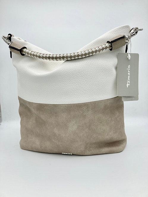 Tamaris Taupe & White Shoulder Bag