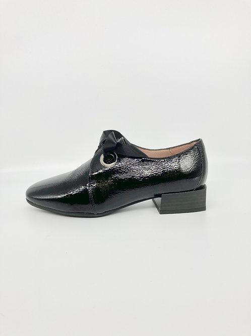 Hispanitas Black Patent Lace Up Shoe. H008