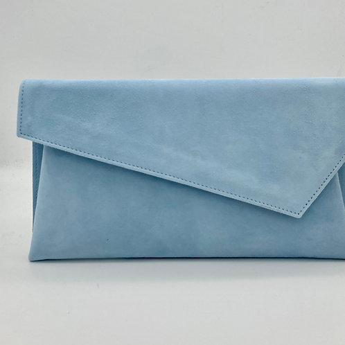 Marian Baby Blue Clutch Bag