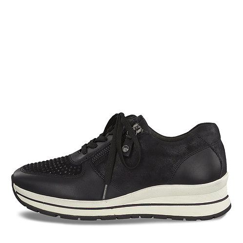Tamaris Black Trainer. T001