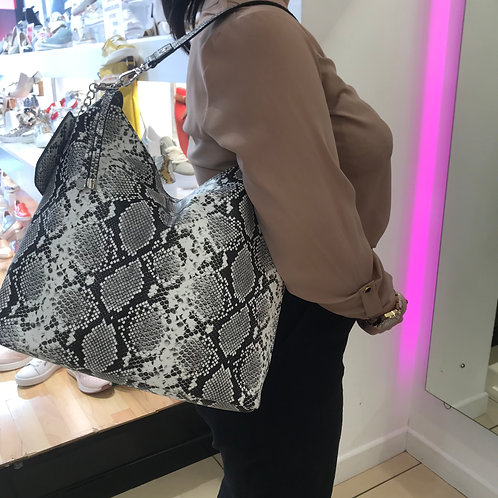 Tamaris Black & White Snake Shoulder Bag
