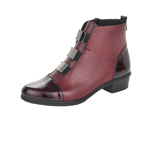 Rieker Burgundy Boot. R32