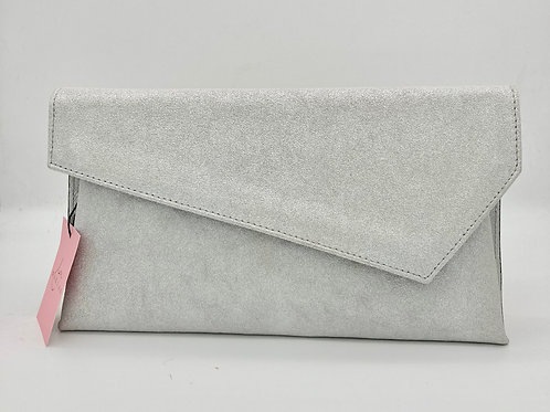 Marian Silver Clutch Bag