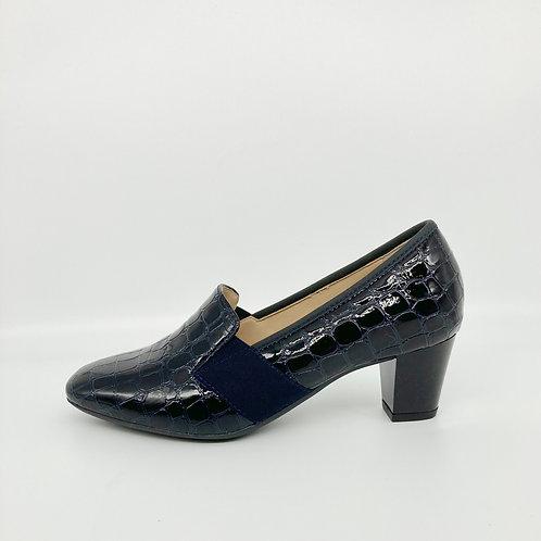 Ara Navy Patent Croc Shoes. A005