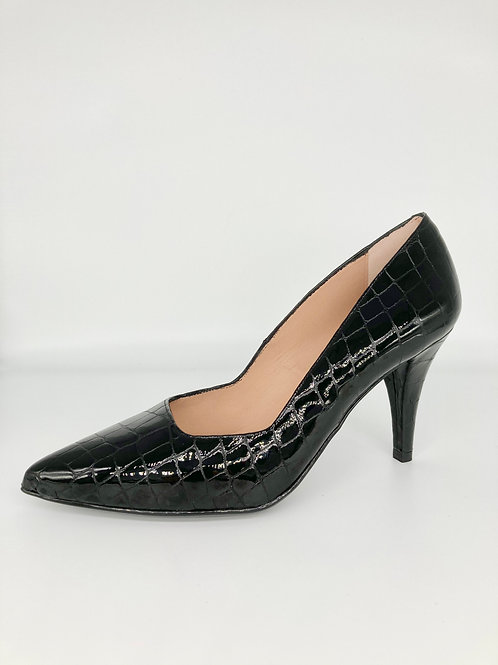 Unisa Classic Black Court Shoe.U001