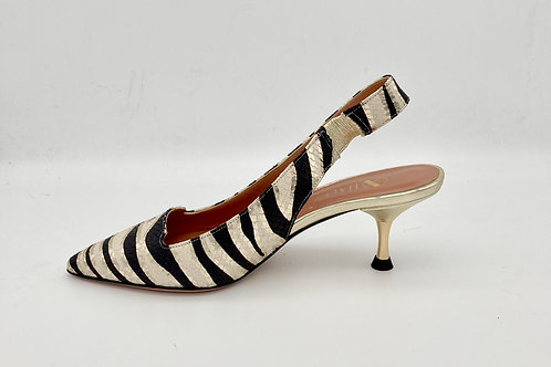 Oxitaly Low Heel Sling Backs.O004