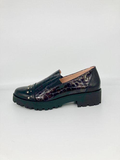 Jose Saenz Black slip on loafer. JS013