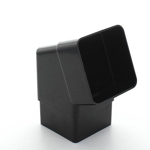 BR390 Hunter Squareflo Guttering 65mm 112.5 Degree Offset Bend Black