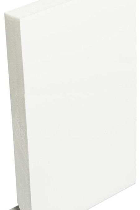 150mm White PVC Square Fascia 16mm - 5m length