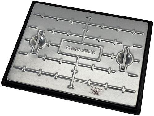 Manhole Cover Galvanised Steel & Polypropylene Frame PC6AG 600x450mm - 2.5 Tonne