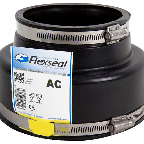 Rubber Repair Coupler 6 Inch PVC to 6 Inch Clay AC6000