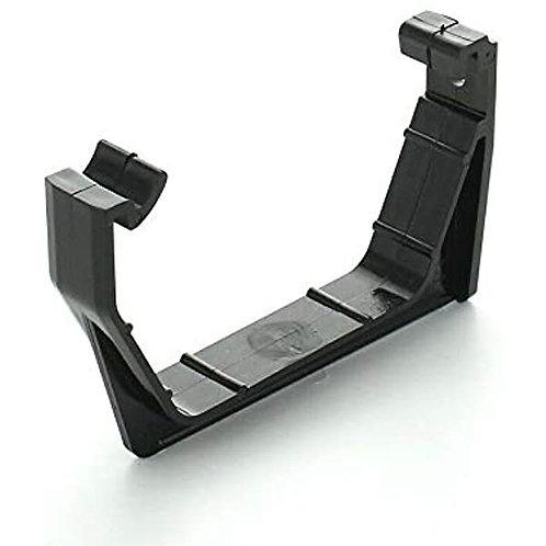BR395 Hunter Squareflo Guttering 114mm 2 Fixing Support Bracket. Black